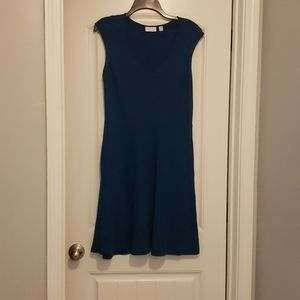 New york and company teal dress with pockets